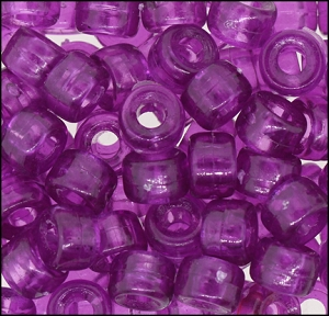 Plastic Pony Beads #610 9mm Amethyst (1,000 Pieces) - CLEARANCE