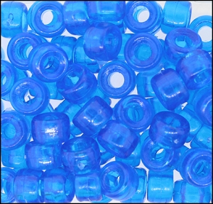 Plastic Pony Beads #610 9mm Aqua (1,000 Pieces) - CLEARANCE