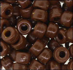Plastic Pony Beads #610 9mm Brown Opaque (1,000 Pieces) - CLEARANCE