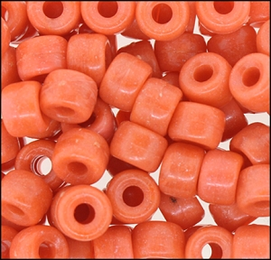 Plastic Pony Beads #610 9mm Coral Opaque (1,000 Pieces) - CLEARANCE