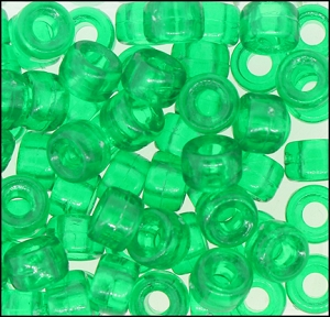 Plastic Pony Beads #610 9mm Emerald (1,000 Pieces) - CLEARANCE