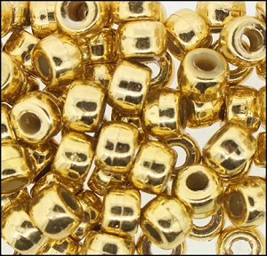 Plastic Pony Beads #610 9mm Gold (1,000 Pieces) - CLEARANCE
