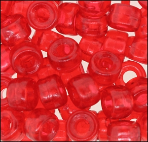 Plastic Pony Beads #610 9mm Ruby (1,000 Pieces) - CLEARANCE
