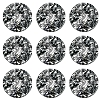 Swarovski 2028 Hot Fix Flatback Rhinestones SS12 Marbled Black (144 Pieces) - CLEARANCE