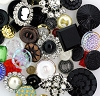 Glass & Rhinestone Button Explosion Assortment (4 oz Bag)