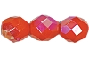 Round Fire Polished Bead #3150 5mm Opaque Orange AB (1,200 Pieces) - CLEARANCE