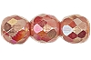 Round Fire Polished Bead #3150 5mm Opaque Pink AB (1,200 Pieces) - CLEARANCE