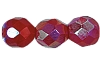 Round Fire Polished Bead #3150 5mm Opaque Red AB (1,200 Pieces) - CLEARANCE
