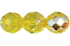 Round Fire Polished Bead #3150 5mm Citrine AB (1,200 Pieces) - CLEARANCE