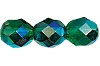 Round Fire Polished Bead #3150 5mm Emerald AB (1,200 Pieces) - CLEARANCE