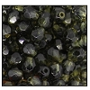 Round Fire Polished Bead #3154 4mm Smoke Grey/Jonquil (1,200 Pieces) - CLEARANCE