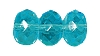 Fire Polished Doughnut Rondelle Bead #3655 9mm Aqua (300 Pieces)