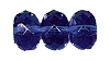 Fire Polished Doughnut Rondelle Bead #3655 9mm Sapphire (300 Pieces)