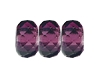 Round Large Hole Fire Polished Rondelle #3670 14mm Amethyst (300 Pieces)