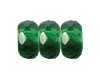 Round Large Hole Fire Polished Rondelle #3670 14mm Emerald (300 Pieces)