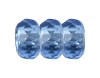 Round Large Hole Fire Polished Rondelle #3670 14mm Light Sapphire (300 Pieces)