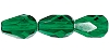 Pear Fire Polished Bead #3750 13x10mm Emerald (300 Pieces)