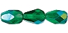 Pear Fire Polished Bead #3750 13x10mm Emerald AB (300 Pieces)