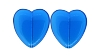 Glass Hearts #3455 Dark Aqua 24mm (300 Pieces) - CLEARANCE