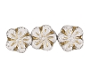 Flower Beads #4705 Chalkwhite/Gold 8mm (Side Holes) (600 Pieces)