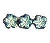 Flower Beads #4705 Jet AB 8mm (Side Holes) (600 Pieces)