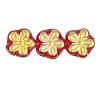 Flower Beads #4705 Light Siam AB 8mm (Side Holes) (600 Pieces)