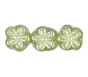 Flower Beads #4705 Olivine AB 8mm (Side Holes) (600 Pieces)