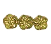 Flower Beads #4705 Olivine/Gold 8mm (Side Holes) (600 Pieces)