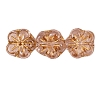 Flower Beads #4705 Rose/Gold 8mm (Side Holes) (600 Pieces)