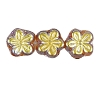Flower Beads #4705 Smoke Topaz AB 8mm (Side Holes) (600 Pieces)