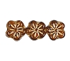Flower Beads #4705 Smoke Topaz/Gold 8mm (Side Holes) (600 Pieces)