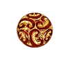Baroque Beads #4707 Ruby/Gold 14mm (300 Pieces)