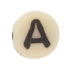 Glass Letter Bead #7300 Beige 6mm (1,200 Pieces) - CLEARANCE