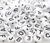 Letter Beads A-Z Mix #7300 White 6mm (100 Pieces)
