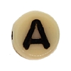 Glass Letter Bead #7300 Tan 6mm (1,200 Pieces) - CLEARANCE