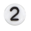 Number & Symbol Beads #7300 White 6mm (1,200 Pieces) - CHOOSE YOUR NUMBER OR SYMBOL