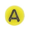Glass Letter Bead #7300 Yellow 6mm (1,200 Pieces) - CLEARANCE
