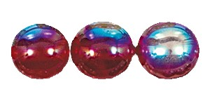 Druk Smooth Round Beads #4150 6MM Ruby AB (1,200 Pieces)