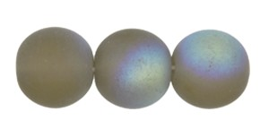 Druk Smooth Round Beads #4150 6mm Smoke Grey Matt AB (1,200 Pieces) - CLEARANCE