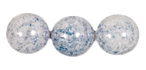 Decora Druk Smooth Round Beads #4151 6MM Lake Blue (1,200 Pieces) - CLEARANCE