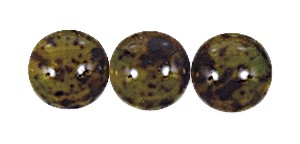 Decora Druk Smooth Round Beads #4151 6MM Marble Olivine (1,200 Pieces)