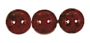 Decora Druk Smooth Round Beads #4151 6MM Marble Ruby (1,200 Pieces)