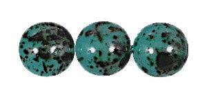 Decora Druk Smooth Round Beads #4151 6MM Marble Sea (1,200 Pieces)