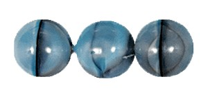 Ombre Druk Smooth Round Beads #4158 4MM Grey/Aqua (1,200 Pieces)