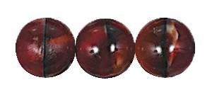 Ombre Druk Smooth Round Beads #4158 4MM Grey/Dark Red (1,200 Pieces)