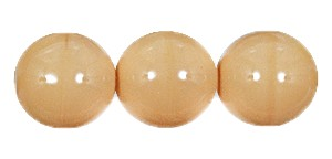 Druk Smooth Round Beads #4150 6mm Opaque Beige (1,200 Pieces) (LOOSE) - CLEARANCE