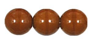 Druk Smooth Round Beads #4150 5mm Opaque Brown (1,200 Pieces) - CLEARANCE