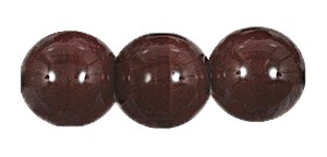 Druk Smooth Round Beads #4150 5mm Opaque Dark Brown (1,200 Pieces) - CLEARANCE