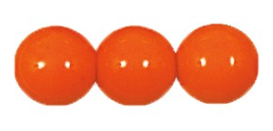 Druk Smooth Round Beads #4150 5mm Opaque Orange (1,200 Pieces) - CLEARANCE
