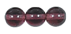 Druk Smooth Round Beads #4150 6mm Amethyst *BULK* (3,600 Pieces) (LOOSE) - CLEARANCE